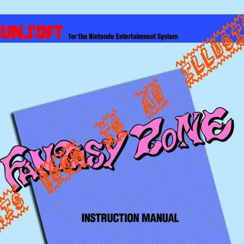 Fantasy Zone Manual Page 1