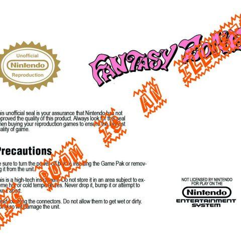 Fantasy Zone Manual Page 2